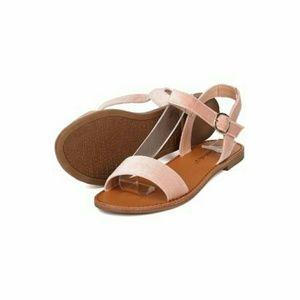 Breckelle's blush velvet sandles 6.5